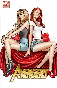 Mary Jane & Gwen Stacy Lesbian Hentai.1