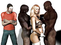 Interracial cuckold art