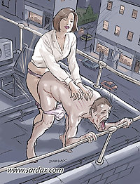 een paar femdom cartoons