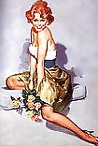 Who doesnt  just love vintage pin up girls?