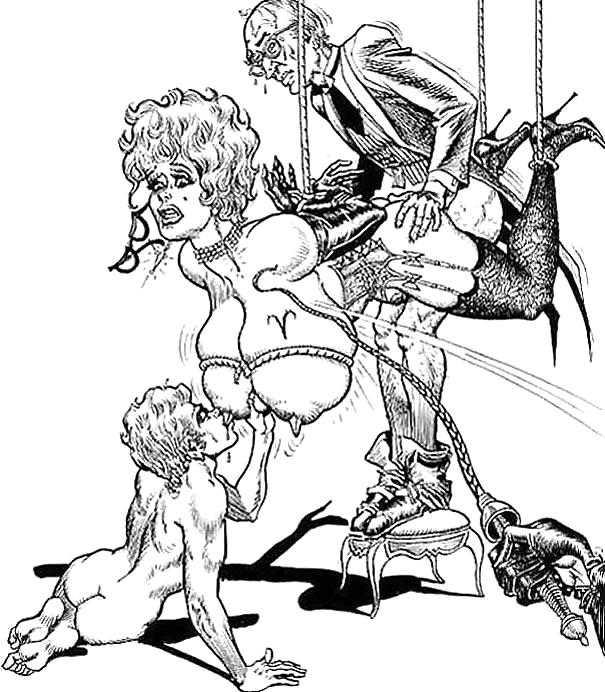 Рисованное порно эро рисунки молится